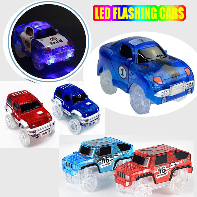 Electric Magic Led Glowing Race Track Toy Cars Run On Best Kids Car Toys For Boys Looping Tracks Gift