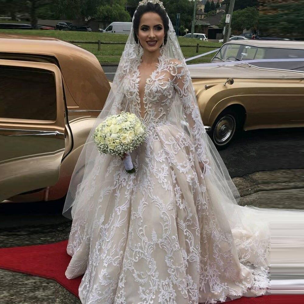 Same Noiva Custom Robes Dentelle Pic Femme As Made Manches Robe 2018 De Appliques Longues 8xFqnP40