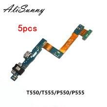 AliSunny 5 sztuk Port ładowania taśma do Samsunga Tab A 9.7 T555 T550 P550 P555 TabA ładowarka USB złącze stacji dokującej naprawa części