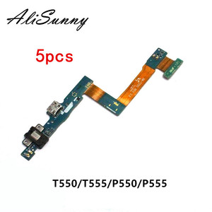 Image 1 - AliSunny 5pcs Charging Port Flex Cable for SamSung Tab A 9.7 T555 T550 P550 P555 TabA  Charger USB Dock Connector Repair Parts