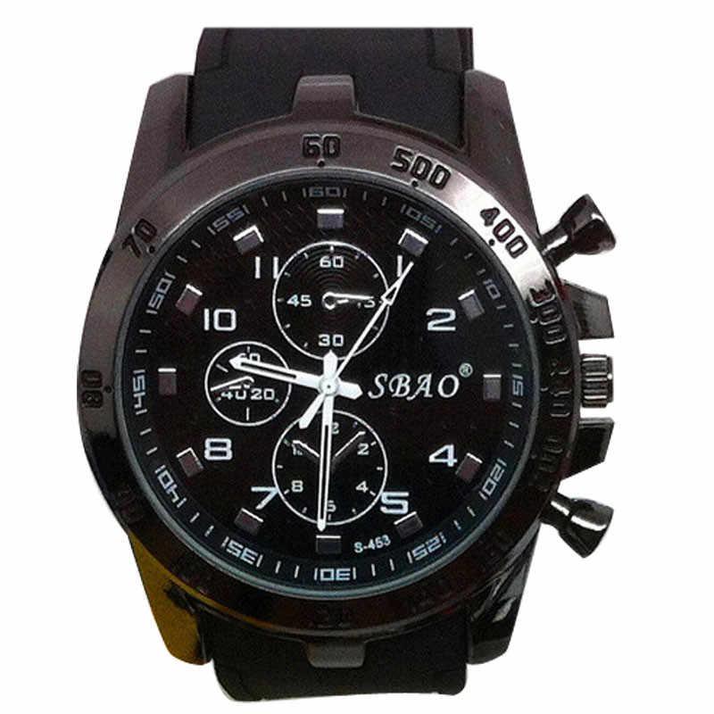 Pria Luar Ruangan Sport Watch Stainless Steel Mewah Olahraga Kuarsa Analog Pria Modern Fashion Jam Tangan Kualitas Tinggi Merek Jam Tangan