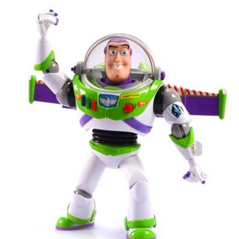 30 CM jouet histoire Buzz Lightyear avec son léger mobile Figurine articulée poupées jouets PVC Action Figure Collection modèle jouet H681