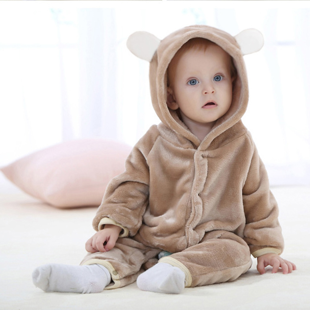 Infant Romper Baby Boys Girls Jumpsuit Bear New Born Bebe Clothing Hooded Toddler Baby Clothes Cute Animal Romper Baby Costumes