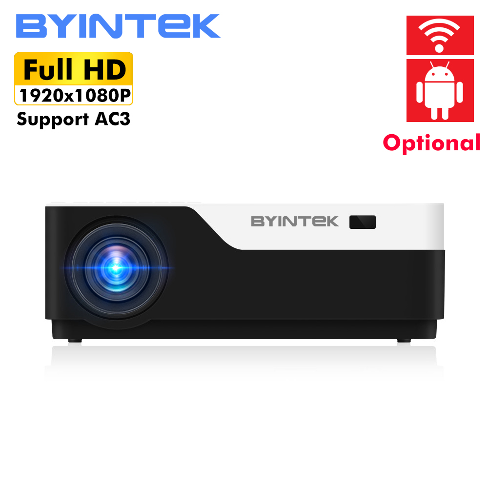 BYINTEK MOON K11 200inch 1920x1080 1080P FULL HD LED Video Projector with HDMI USB For Game
