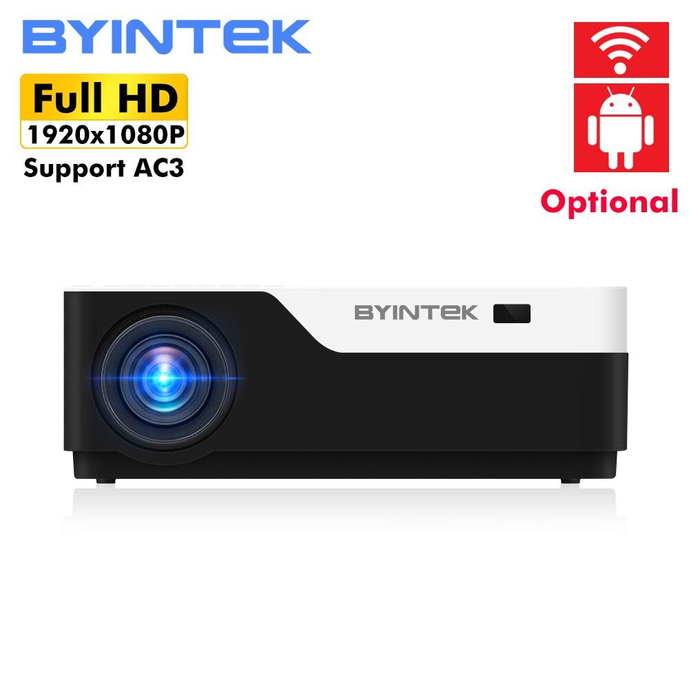 BYINTEK LUA K11 200 polegada 1920x1080 1080P FULL HD LED Projetor de Vídeo com HDMI USB Para O Jogo filme Cinema Home Theater
