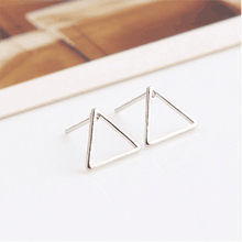 2017 Promotion Brincos Punk Style Simplehollow Triangle Earrings Simple Geometric Shaped Ear Stud Fine Jewelry Free Shipping(China)