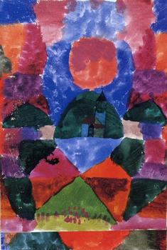 High quality Oil painting Canvas Reproductions A pressure of Tegernsee (1919)  by Paul Klee  Painting hand painted