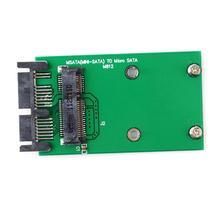 ミニpci e pcie msata 3 × 5センチメートルssd 1.8マイクロsataアダプタコンバータカード #55346