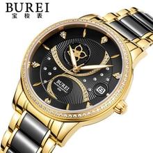 Ladies Watch BUREI Top Brand Luxury Women Sapphire Automatic Mechanical Wrist Watches Rhinestone Waterproof Ceramic Watch