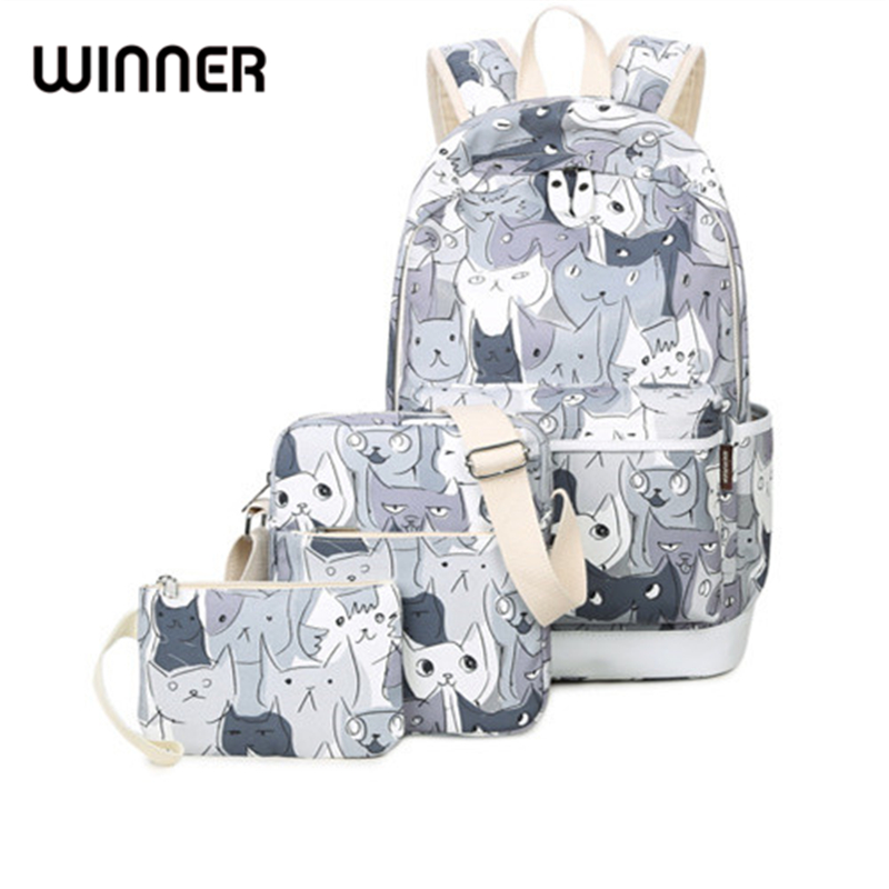 Waterproof Set Backpacks School Bag for Teenage Girls Packbag Cut Cat Printing Bagpack Laptop Canvas Animal Backpack Women 48v 3000w electric bike battery 48v 40ah samsung electric bicycle lithium ion battery with bms charger 48v battery pack 48v 8fun page 4