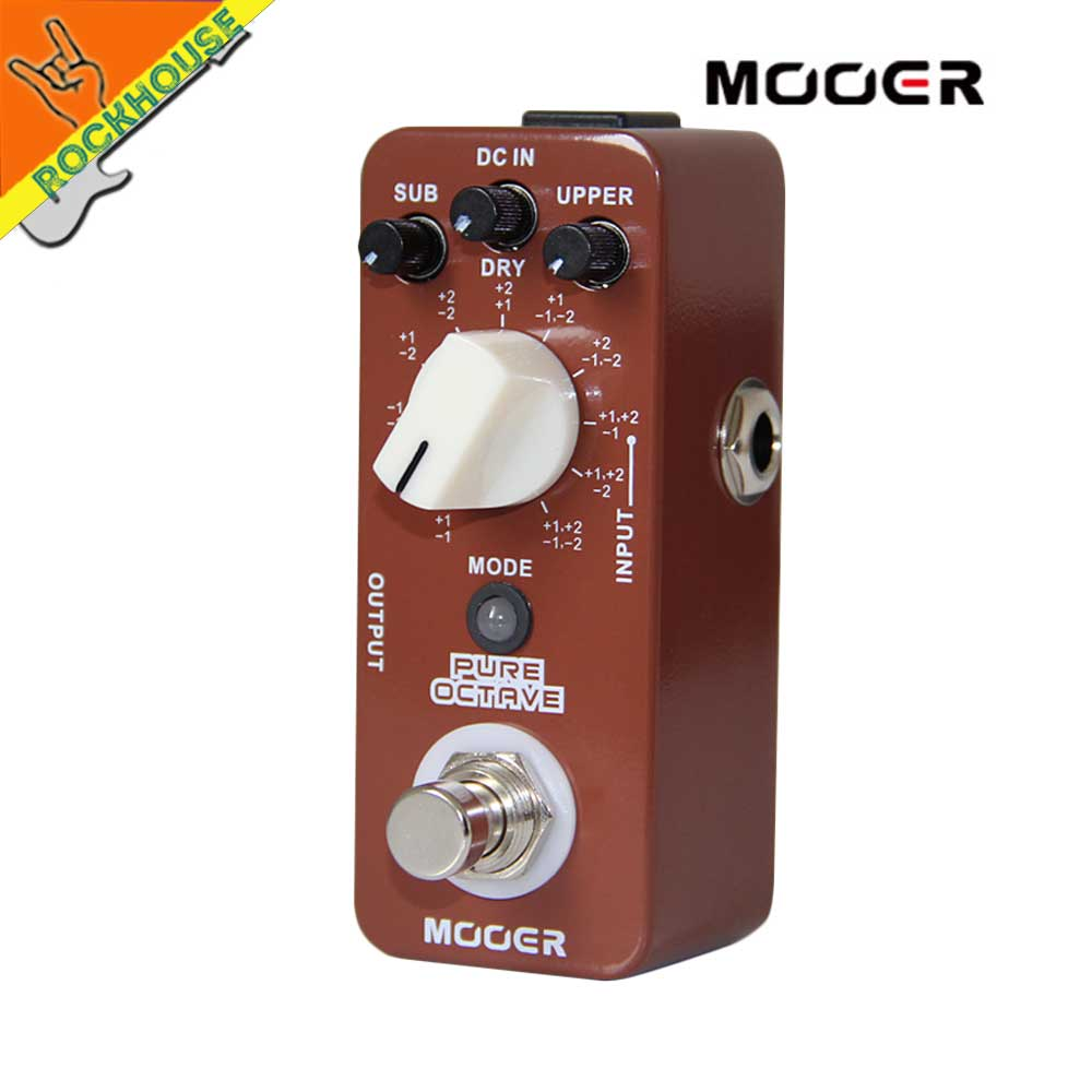 MOOER Pure Octave Guitar Pedal 11 Octave models Nice Church Music Tone True Bypass Free Shipping mooer ensemble queen bass chorus effect pedal mini guitar effects true bypass with free connector and footswitch topper