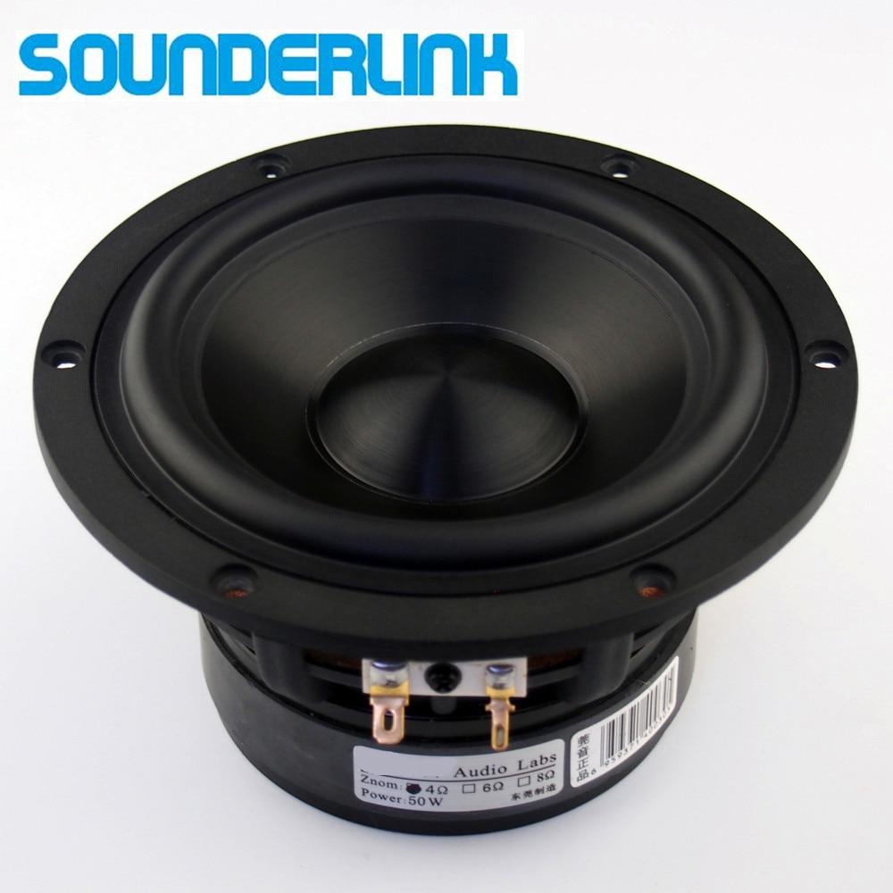 2PCS LOT Audio Labs Top end 5 25 Ceramic pots Bass driver woofer subwoofer transducer speaker