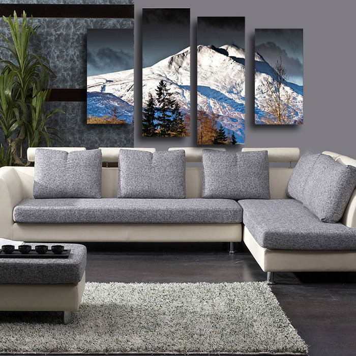 4PCS High Quality Painting Home Living Room Wall Decor Grand Mountain Chain  Print Oil Painting Canvas Art Picture Unframed In Painting U0026 Calligraphy  From ...
