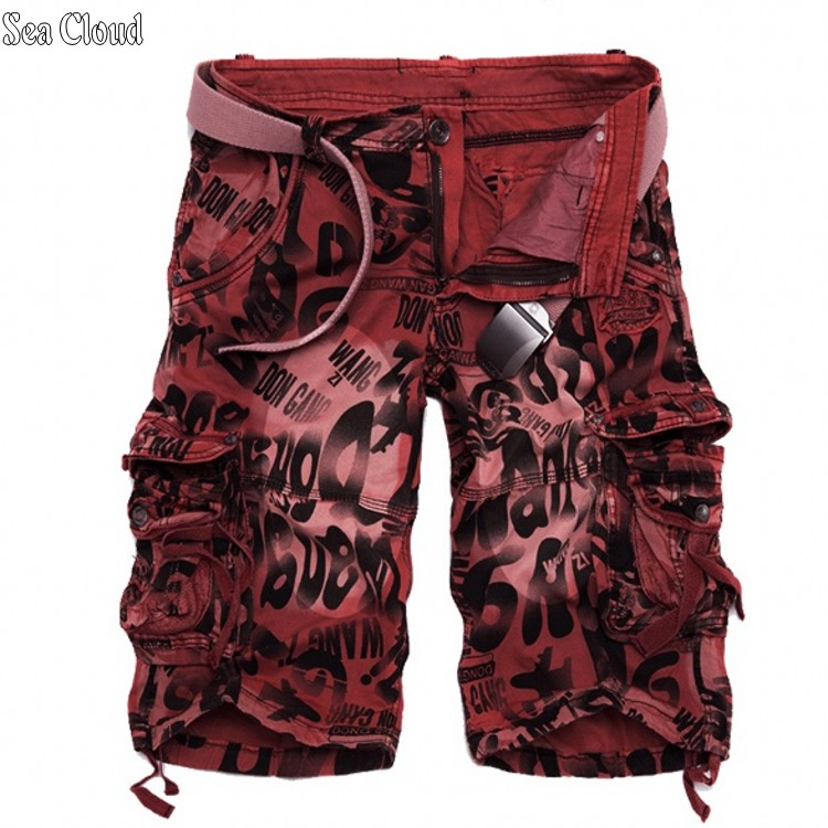 Free shipping plus size summer men cargo shorts male mens fat loose casual military shorts big short trousers camouflage