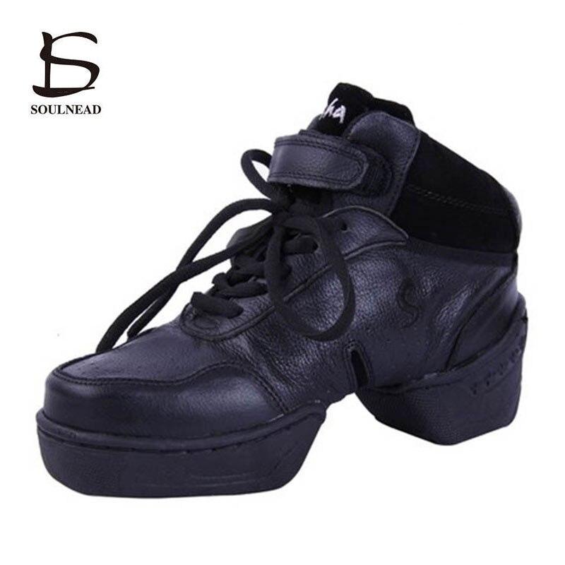 Chaussures de danse Jazz moderne femmes en cuir véritable semelle souple Hip Hop Salsa baskets de danse taille 34-41 filles pratiquent des chaussures de danse