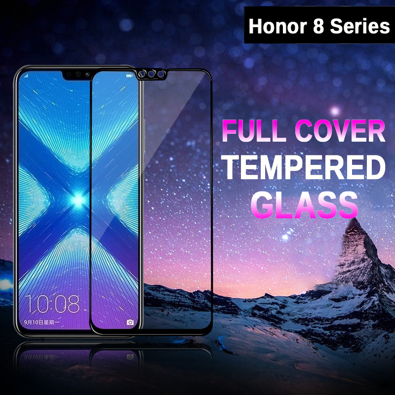 Verre de protection pour Huawei Honor 8X verre trempé 9H 3D couverture complète Film de sécurité pour Honor 8S 8C 8A 8 Lite X C A S X8 Honer Glas