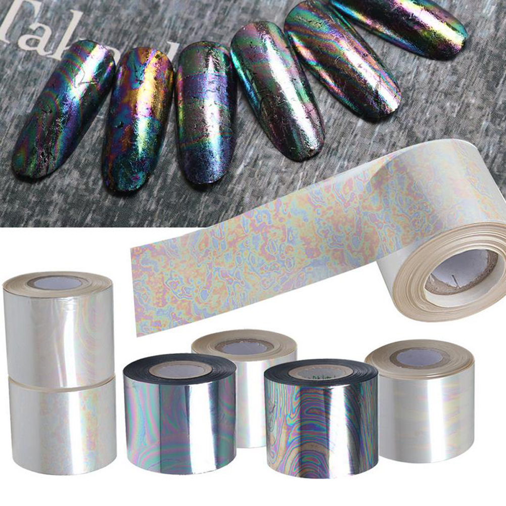 1 Sheets 120m*5cm Starry Sky Nail Foil Paper Foil Paper Nail Art Transfer Sticker Manicure Nail Art Sticker Decorations hot sale 20 sheets lot 20 4cm nail art transfer foil floral serial sexy black lace pattern nail sticker foil material diy wy188