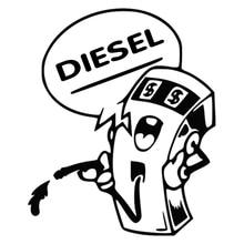 цена на CS-312#12*10cm DIESEL funny car sticker and decal silver/black vinyl fuel tank auto car stickers