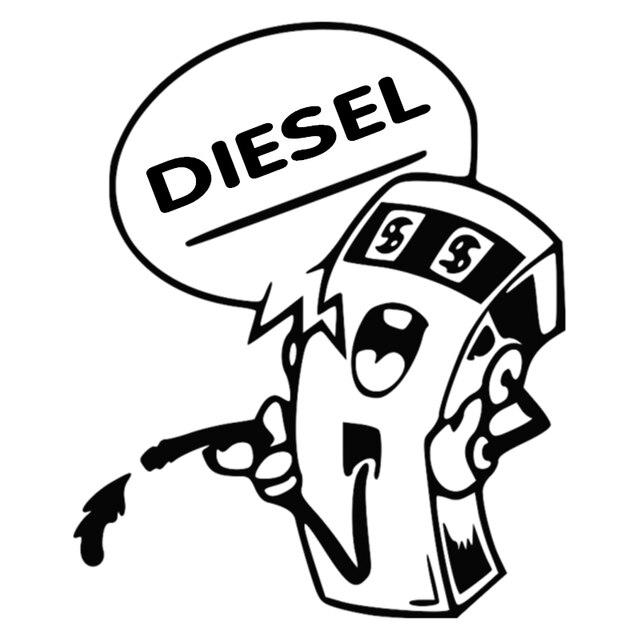 Cs 3121210cm Diesel Funny Car Sticker And Decal Silverblack Vinyl