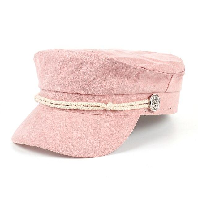 cf4ba6f6d47cd Ladies Newsboy Cabbie Beret Cap pink orange solid Baker boy Visor Peaked Warm  Winter Women Ivy Flat Hat Women Fashion Style Hats