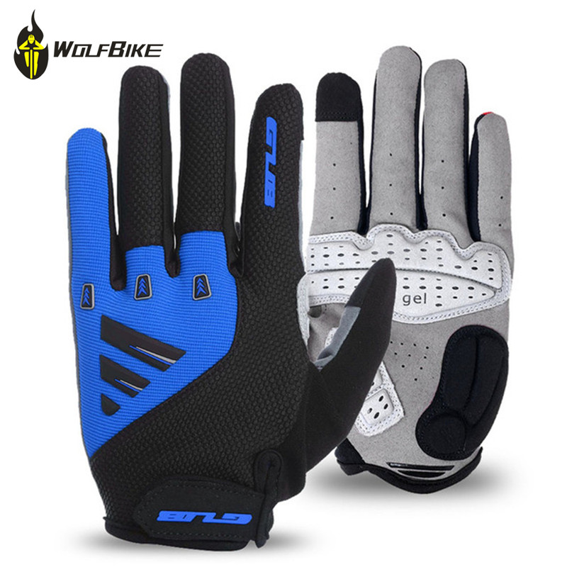 GUB Touch Screen Bike Gel Gloves Full Finger Outdoor Mountain bike Gloves Motorcycle Racing breathable thick shockproof mittens
