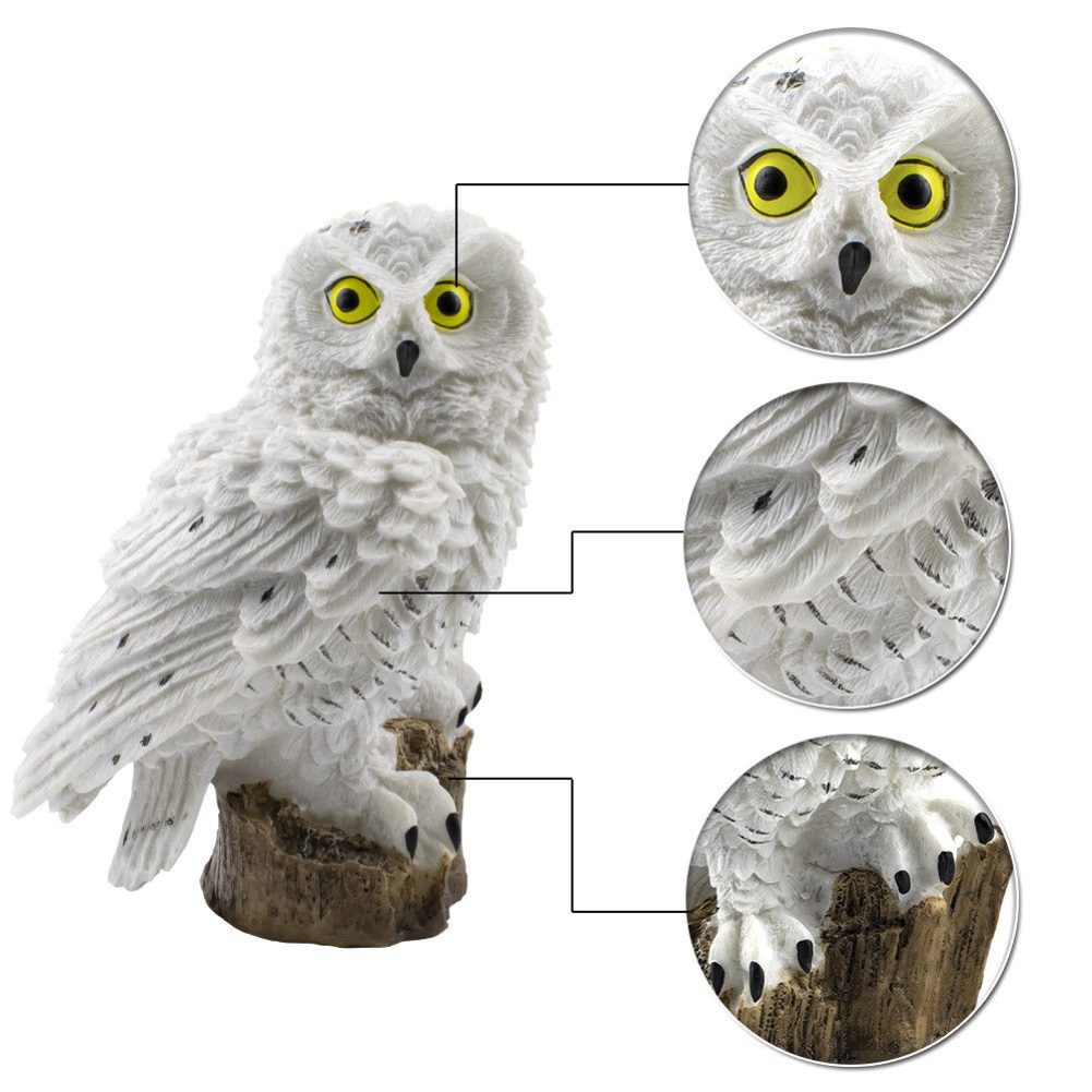 Novelty Owl Garden Ornament LED Path Light Solar Power Outdoor Waterproof Patio