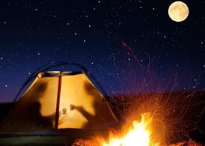Image 4 - 満月の夜火災テント背景再会シーン写真スタジオの背景 7x5ft 写真撮影の背景壁