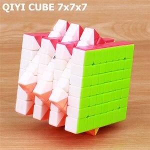 Image 4 - QIYI qixing s 7x7x7 magique vitesse sans colle cube professionnel puzzle cubes cerveau Teaser adulte tournant en douceur jouets pour enfants