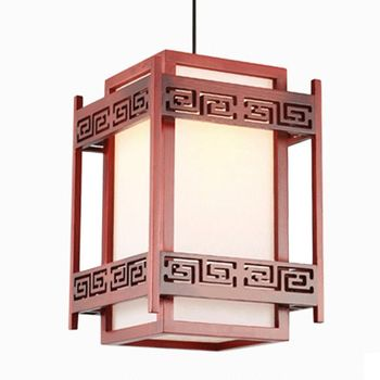 Chinese Style Wooden Dining Room Pendant Lamp Teahouse Pendant Lights Hallway Balcony Pendant Lamps