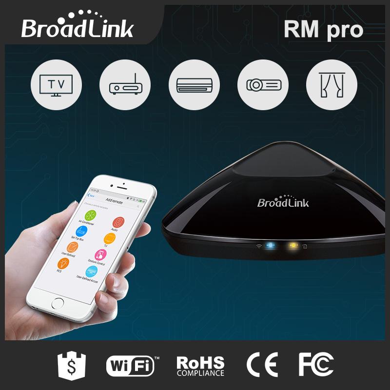Prix pour 2017 broadlink rm2 rm pro universel intelligent à distance contrôleur smart domotique wifi + ir + rf commutateur via ios android téléphone