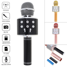 Professional Bluetooth Wireless Microphone Speaker Handheld Microphone Karaoke Mic Music Player MIC Singing Recorder KTV Micr цена