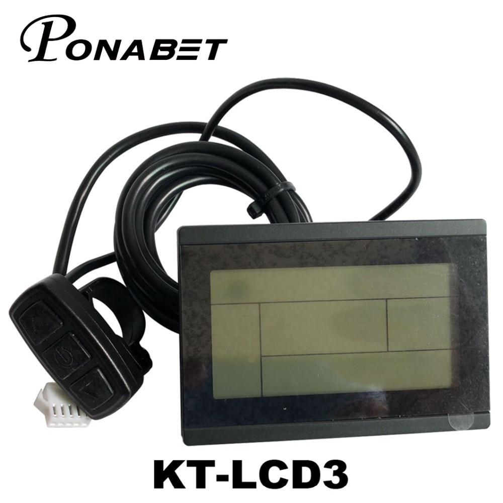 Electric Parts 24V 36V 48V 60V 72V intelligent KT LCD3 Electric Bicycle bike e bike controller