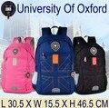 University of oxford impermeable reflectante niños del bolso de escuela mochilas de viaje a prueba de agua para hombre mujer