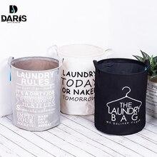 SDARISB Складная хлопковая корзина для мытья одежды, складная сумка для хранения, водонепроницаемая корзина для хранения вещей, корзина для белья, модная одежда