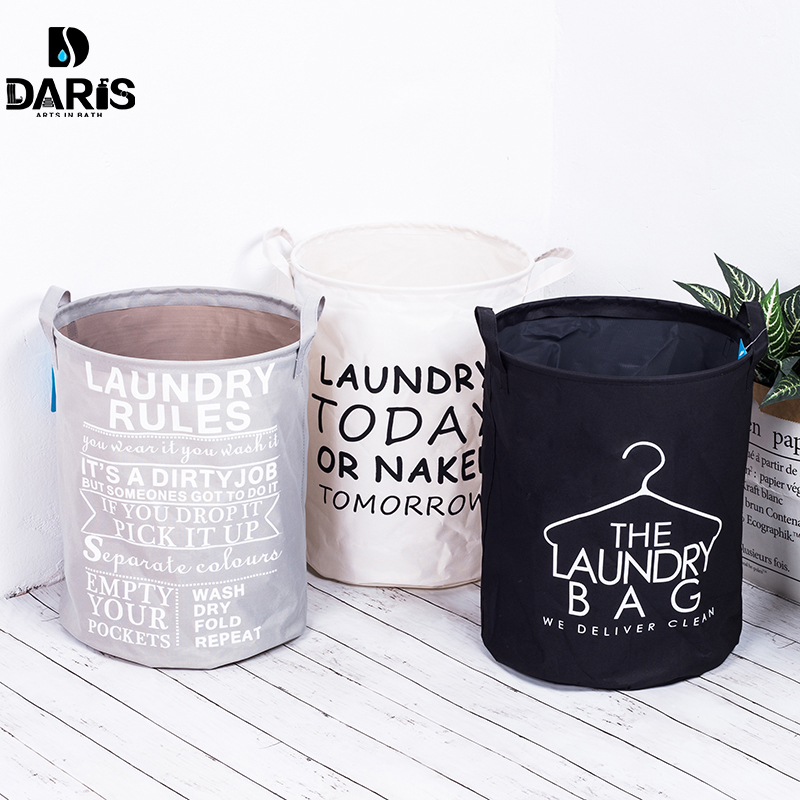 SDARISB Storage-Basket-Bag Washing-Clothes Laundry Hamper Foldable Cotton Fashion Waterproof title=