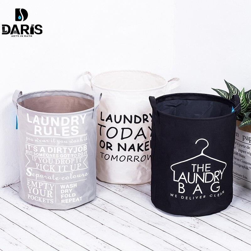 SDARISB Foldable Cotton Washing Clothes Folding Storage Basket Bag Waterproof Instoragebarrels Laundry Hamper Top Fashion