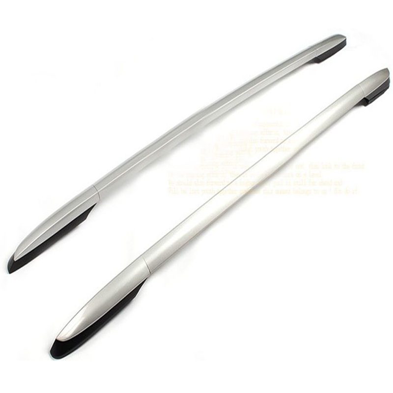 Car Styling For Toyota RAV4 2014-2017 Aluminum Alloy Sliver Side Bars Rails Roof Rack Luggage Carrier Decoration Frame Trim 2Pcs guangzhou shaoguan qingyuan cloth curtain track site installation chong ming aluminum side rails curved track rails