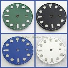 28.5/31.5Mm Zwart/Blauw/Groen/Witte Wijzerplaat Steriele Fit Mingzhu 2813/3804 Beweging Heren Horloge accessoire