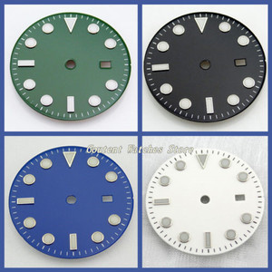 Image 1 - 28.5/31.5mm Black/Blue/Green/White Dial Sterile Fit Mingzhu 2813/3804 Movement Mens Watch Accessory