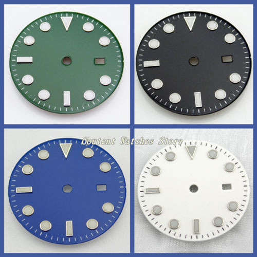 28.5/31.5mm Black/Blue/Green/White Dial Sterile Fit Mingzhu 2813/3804 Movement Mens Watch Accessory