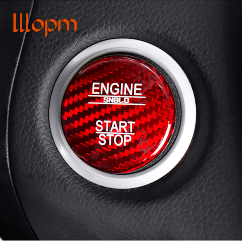 For <font><b>Mercedes</b></font> Benz A B C GLC GLA CLA ML GL Class W176 <font><b>W246</b></font> W205 X253 X156 C117 Engine Start Button Carbon Fiber Cover Car Styling image