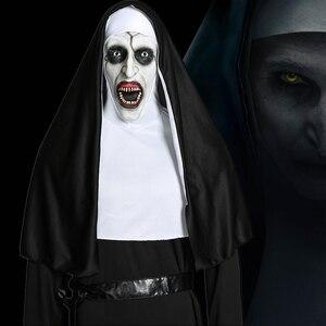 Image 1 - فيلم راهبة تأثيري Valak زي العذراء ماري مونيا ديلوكس ازياء مخيف للرجال النساء حفلة هالوين