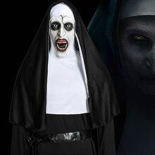 映画を修道女コスプレvalak衣装聖母マリアmonjaデラックス怖い衣装男性の女性ハロウィーンパーティー