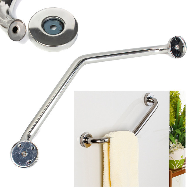 Bathroom Bathtub Arm Safety Handle Grip Bath Shower Tub Grab Bar Stainless  Steel Anti Slip Handle