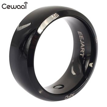 Cewaal Waterproof Carbon Fiber Control NFC Ring Wearable NFC Ring Finger Fashion Message Push NFC Smart Ring Screen Unlocking 1