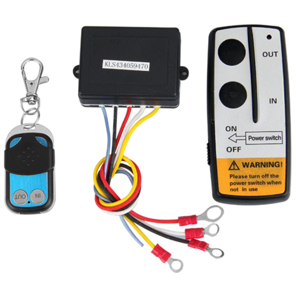 12V 12Volt 50ft Winch Wireless Remote Control Set for Truck Jeep ATV Warn Ramsey|Remote Controls| |  - title=
