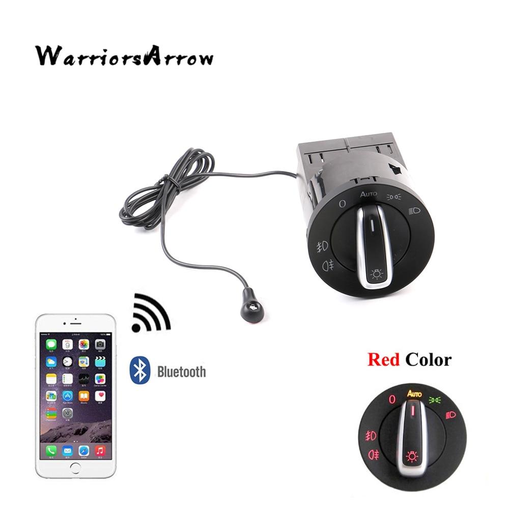 WarriorsArrow AUTO Headlight Head Lamp Switch Light Sensor Module Upgrade Bluetooth For VW Golf MK4 Passat