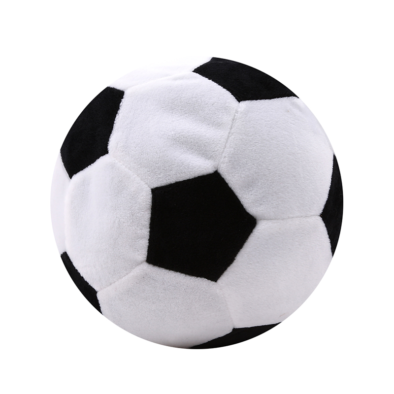 Kids Soccer Ball Pillow Stuffed Fluffy Plush Durable Soccer Sports Toy Gift