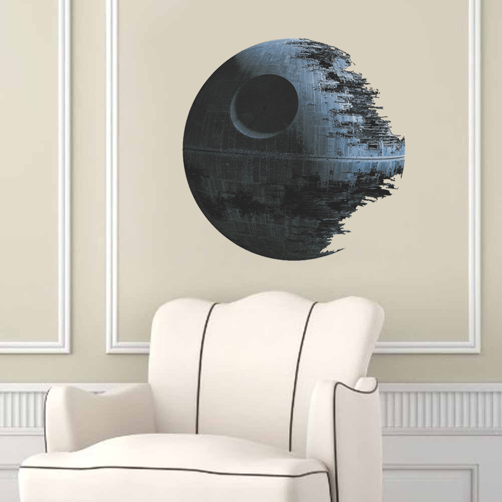 Star wars death star wall sticker for Death star wall mural
