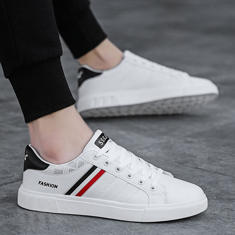 2019 Spring White Shoes Men Shoes Mens Casual Shoes Fashion Sneakers Street Cool Man Footwear Zapatos De Hombre Tenis Masculino Lahore